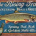 Rising Trout Sign by JQ Licensing