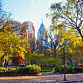 Rittenhouse Square In The Spring by Bill Cannon