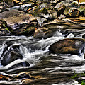 River And Rocks by Harry B Brown