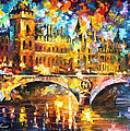 River City - Palette Knife Oil Painting On Canvas By Leonid Afremov by Leonid Afremov