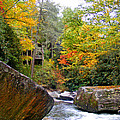 River House In The Fall by Duane McCullough