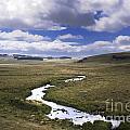 River In A Landscape by Bernard Jaubert