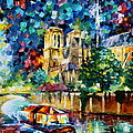 River In Paris by Leonid Afremov