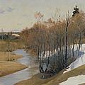 River Kordonka by Andrei Petrovich Ryabushkin