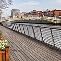 River Liffey Boardwalk In Dublin by Artur Bogacki