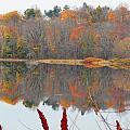 River Mirror Autumn by Expressionistart studio Priscilla Batzell