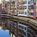 River Onyar Girona Spain by Christopher Rees