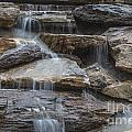 River Rock Waterfall by Michael Waters