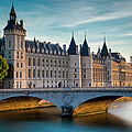 River Seine With Conciergerie by Brian Jannsen