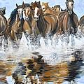 River Stampede by Michael Lee
