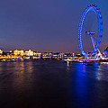 River Thames And London Eye by Adam Pender