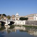 River Tiber With The Vatican. Rome by Bernard Jaubert