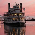 Riverboat At Sunset by Cynthia Guinn