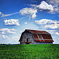 Riverbottom Barn Against The Sky by Cricket Hackmann