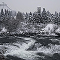 Riverfront Park Winter Storm - Spokane Washington by Daniel Hagerman