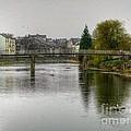 The River Kent At Kirkland In Kendal by Joan-Violet Stretch