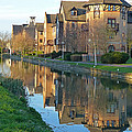 Riverside Home Reflections Vertical by Gill Billington