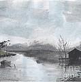 Riverside Scene by Brian Francis Smith