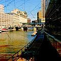Riverwalk And Painted Board by Anita Burgermeister