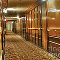 Rms Queen Mary Passenger Hallway Passageway  by David Zanzinger