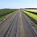 Road Across North Dakota Prairie by Donald  Erickson