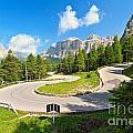 road to Pordoi pass by Antonio Scarpi