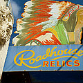 Roadhouse Relics Sign by Mark Weaver