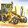 Roadmaster Tractor In Watercolor by Kip DeVore