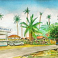 Roadside Food Stands Puerto Rico by Frank Hunter