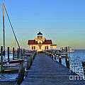 Roanoke Marches Lighthouse by Allen Beatty