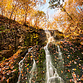 Waterfall - Roaring Brook Autumnlands by JG Coleman