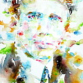 Robert Frost . Watercolor Portrait by Fabrizio Cassetta