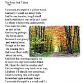 Robert Frost - The Road Not Taken by Ed Churchill