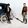 Robert Oppenheimer And Ernest Lawrence by Copyright Status Unknown, Coloured By Science Photo Library