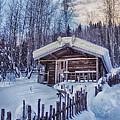 Robert Service Cabin Winter Idyll by Priska Wettstein