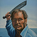 Robert Shaw in Jaws by Paul Meijering