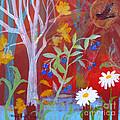 Robin's Blueberry Daisy Sunshiny Day by Robin Maria Pedrero