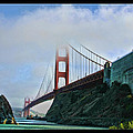 Rock And Golden Gate by Blake Richards