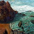 Rock Beach And Sea by Chriss Pagani