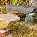 Rock Bench And Table by Les Palenik