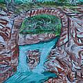 Rock Bridge Over Falls by Suzanne Surber