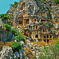 Rock-carved Tombs In Myra-turkey by Ruth Hager