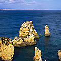 Rock Formations In The Sea, Algarve by Panoramic Images