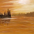 Rock Lake Morning 1 by Ian  MacDonald