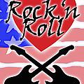 Rock N Roll Stars N Stripes by Neil Finnemore