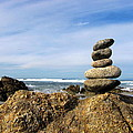 Rock Sculpture At The Beach by Joyce Dickens