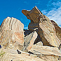 Rock Uplifts In Andreas Canyon In Indian Canyons-ca by Ruth Hager