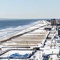Rockaway Beach During Arctic Vortex by Maureen E Ritter