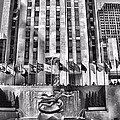 Rockefeller Center Black And White by Dan Sproul
