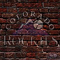 Rockies Baseball Graffiti On Brick  by Movie Poster Prints